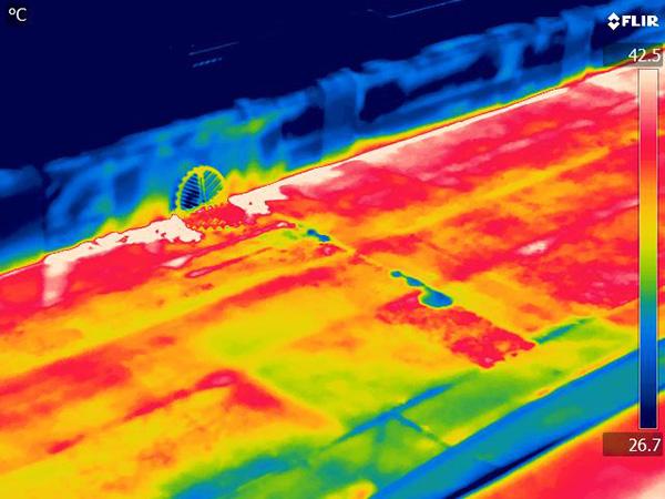 赤外線サーモグラフィー調査後